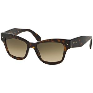 Prada Square Style Sunglasses Havana w/Brown Lens